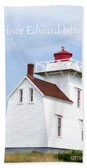 Prince Edward Island Lighthouse Poster Bath Towel