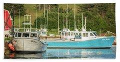 Prince Edward Island Lobaster Boats Bath Towel