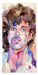Prince Rogers Nelson Watercolor Hand Towel