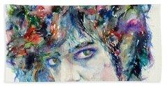 Prince - Watercolor Portrait Bath Towel