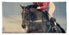 Hand Towel featuring the photograph Princess Anne Riding Cnoc Na Cuille At Kempten Park by Travel Pics