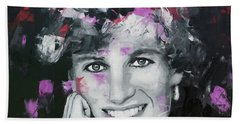 Bath Towel featuring the painting Princess Diana by Richard Day