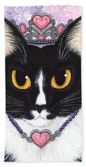 Princess Fiona -tuxedo Cat Hand Towel