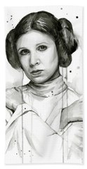 Princess Leia Portrait Carrie Fisher Art Hand Towel
