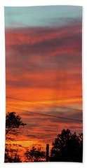 Princeton Junction Sunset Hand Towel by Steven Richman