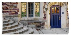 Bath Towel featuring the photograph Princeton University Lockhart Hall by Susan Candelario