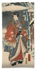 Print From The Tale Of Genji Hand Towel