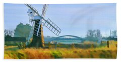 Priory Windmill Bath Towel