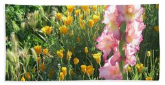 Priscilla With Poppies Hand Towel
