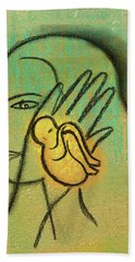Hand Towel featuring the painting Pro Abortion Or Pro Choice? by Leon Zernitsky