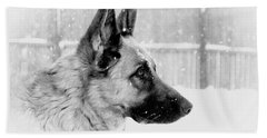 Profile Of A German Shepherd Hand Towel