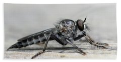 Profile Of A Robber Fly  Bath Towel