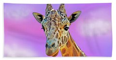 Bath Towel featuring the photograph Profile Portrait Of A Giraffe IIi by Jim Fitzpatrick