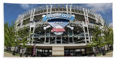 Bath Towel featuring the photograph Progressive Field by Dale Kincaid