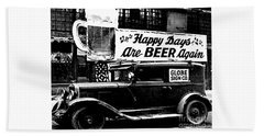 Prohibition Happy Days Are Beer Again Hand Towel