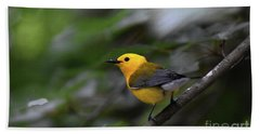 Prothonotary Warbler Hand Towel