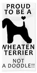 Proud To Be A Wheaten Hand Towel
