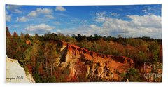 Hand Towel featuring the photograph Providence Canyon Panorama by Barbara Bowen