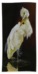 Hand Towel featuring the painting Prudence by Phyllis Beiser