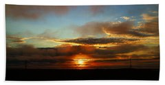 Prudhoe Bay Sunset Bath Towel by Anthony Jones
