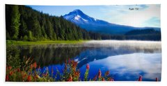 Bath Towel featuring the photograph Psalm 150 With Lake Trillium by Lynn Hopwood
