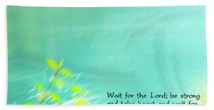 Psalm 27 Bath Towel