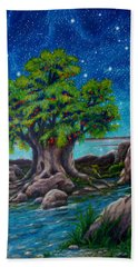 Hand Towel featuring the painting Psalm One by Matt Konar