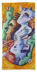 Psychedelic Animals Hand Towel