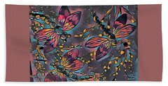 Psychedelic Dragons Hand Towel by Megan Walsh