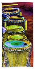 Psychedelic Drums Bath Towel