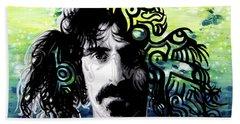 Psychedelic Frank Zappa Portrait Hand Towel