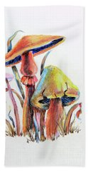 Psychedelic Mushrooms Bath Towel