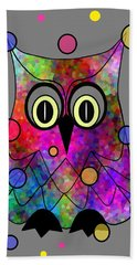 Psychedelic Owl Hand Towel