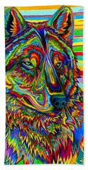 Psychedelic Wolf Bath Towel