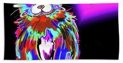 Psycho Dizzycat Hand Towel by DC Langer