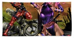 Psylocke And Deadpool Bath Towel
