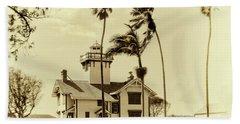 Pt. Fermin Lighthouse Bath Towel by Joseph Hollingsworth