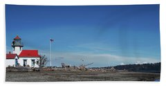 Pt Robinson Lighthouse 2, Maury Island, Washington Bath Towel