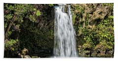 Bath Towel featuring the photograph Pua'a Ka'a Falls by Jim Thompson