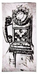 Public Pay Telephone Hand Towel