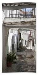 Bath Towel featuring the photograph Puebla Blanca Capileira by Heiko Koehrer-Wagner