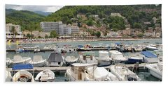 Puerto De Soller In Majorca Bath Towel