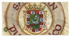 Puerto Rico Coat Of Arms Hand Towel