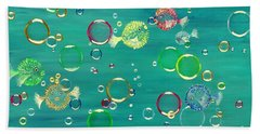 Pufferfish Rainbow Hand Towel