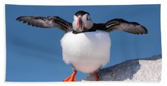 Puffin Dance Bath Towel