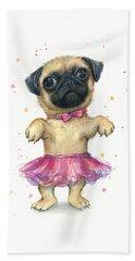 Pug Paintings Hand Towels