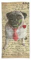 Pug In Love Hand Towel