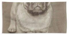Pug Bath Towel