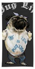 Pug Life Hand Towel