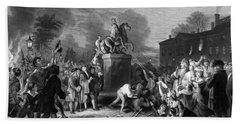 Pulling Down The Statue Of George IIi Bath Towel
